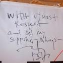 ジョニー・デップの直筆メッセージ