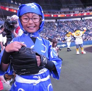 加藤清史郎、初始球式