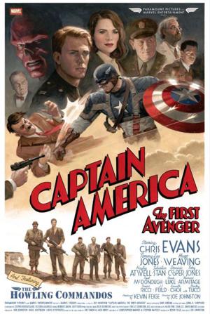 映画『キャプテン・アメリカ ザ・ファースト・アベンジャー』のレトロ調ポスター