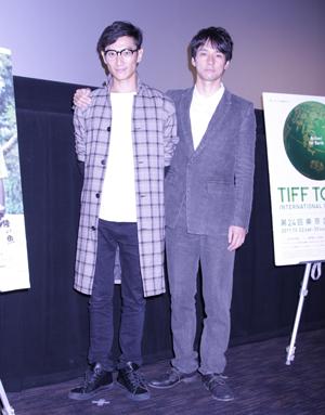 伊勢谷監督と西島秀俊