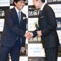 織田裕二と高嶋政伸、握手