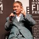 北野監督は「何が必要かなんて、どうすれば宝くじが当たるかというような話だから、それは自分で探すしかない」、SAMURAI (サムライ)賞受賞式にて