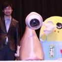 山崎監督とミギーとふなっしー