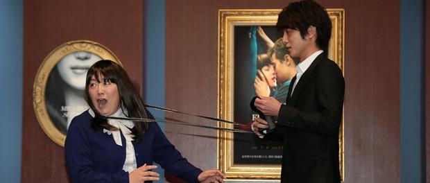 溝端淳平と黒沢かずこ、映画『フィフティ・シェイズ・オブ・グレイ』イベントにて
