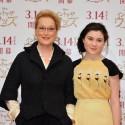 映画『イントゥ・ザ・ウッズ』来日会見のメリル・ストリープとリラ・クロフォード