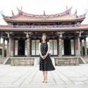 天海祐希、台北孔子廟・大成殿前にて