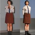 榮倉奈々(左)役柄の笠原郁(右)