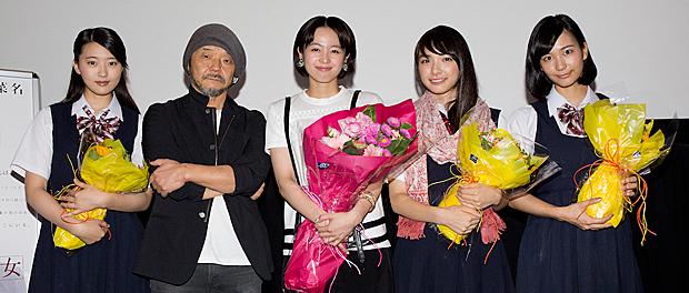 映画『東京無国籍少女』初日舞台挨拶