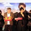 渡辺武監督と北村一輝、映画『猫侍 南の島へ行く』台湾プレミアの舞台あいさつに登壇