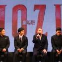左から真木よう子、香川照之、西島秀俊、ビートたけし、伊勢谷友介、松坂桃李
