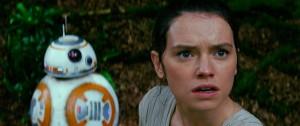 BB-8とデイジー・リドリー映画『スター・ウォーズ/フォースの覚醒』より