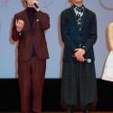 桜田通と竜星涼の全身姿、映画『orange』完成披露試写会舞台あいさつ