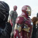 ブラックパンサー、ヴィジョン、アイアンマン、ブラック・ウィドウ、ウォー・マシーン、映画『シビル・ウォー/キャプテン・アメリカ』より