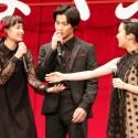 広瀬すず、野村周平、上白石萌音、映画『ちはやふる -上の句-』完成披露試写会舞台あいさつ