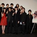 映画『ライチ☆光クラブ』舞台あいさつ付き先行上映会に出席し、ファンサービスの連発に、場内は大熱狂に