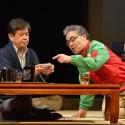 風間杜夫と岩松了、舞台「家庭内失踪」公開舞台稽古にて