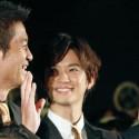 千葉雄大と寺脇康文と橋本一郎、映画『殿、利息でござる!』完成披露試写会舞台あいさつにて
