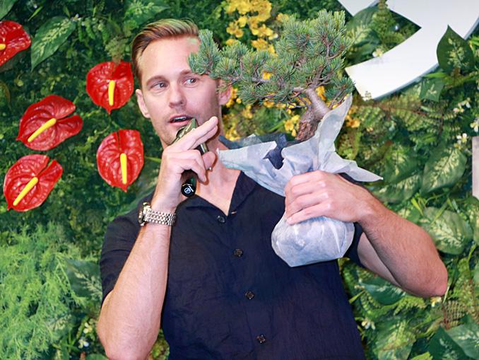 アレクサンダー・スカルスガルド「盆栽のここにツルがあれば完璧なのに」