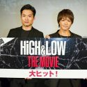 TAKAHIRO(右)、八木将康、映画『HiGH&LOW THE MOVIE』初日舞台あいさつ@福岡UCキャナルシティにて