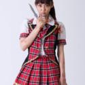 ナイフを手にする山谷花純(灰谷沙奈役)、映画『シンデレラゲーム』(加納 隼監督)