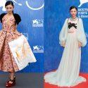 <満島ひかり>プラダとグッチのドレス姿でヴェネツィア映画祭を魅了