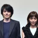 林遣都と川口春奈、映画『にがくてあまい』完成披露試写会にて
