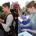 サイン攻めにあうアリシアとエマ、第73回ヴェネツィア国際映画祭