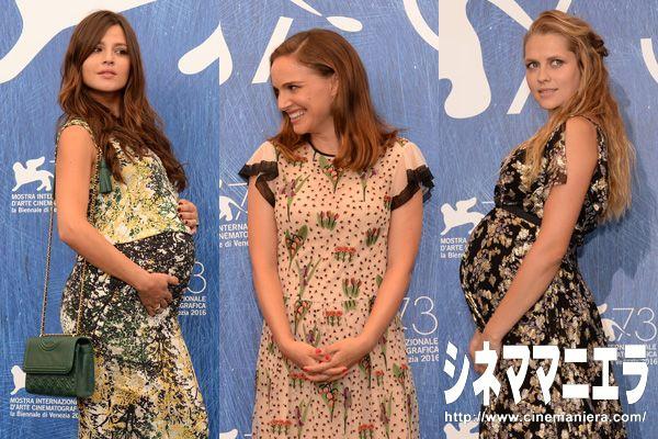 左から女優イヴァナ・ロティート、ナタリー・ポートマン、テリーサ・パーマー【第73回ヴェネツィア国際映画祭】