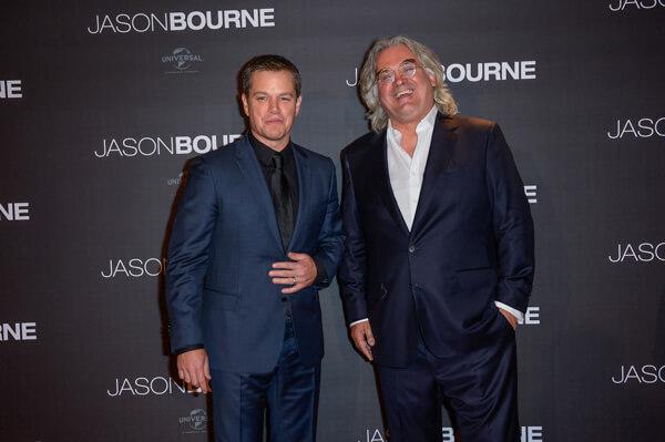 最強タッグ!主演マット・デイモンと監督ポール・グリーングラス、映画『ジェイソン・ボーン』プレミアにて