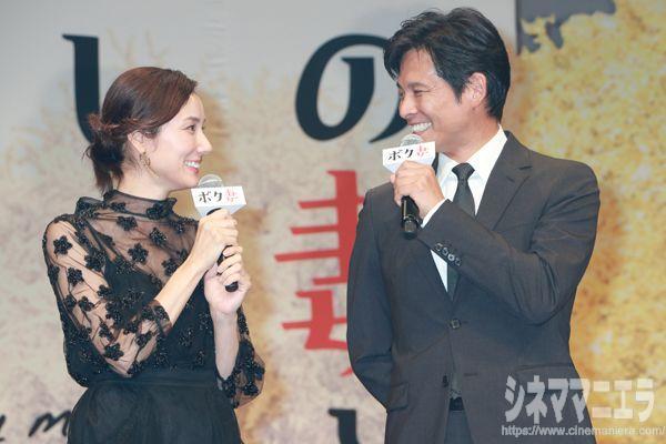 吉田羊と織田裕二、映画『ボクの妻と結婚してください。』舞台あいさつにて