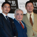 左から窪塚洋介、マーティン・スコセッシ、浅野忠信、映画『沈黙-サイレンス-』来日記者会見にて