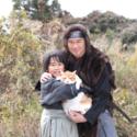 左から鈴木、金時、船越、映画『猫忍』(渡辺武監督)より