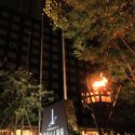 映画『本能寺ホテル』会見はアパホテル&リゾート東京ベイ幕張にて、かがり火が映画の世界観にマッチ