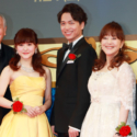 左から村井國夫、昆夏美、山崎育三郎、岩崎宏美、池田優斗