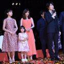 清原果耶、倉科カナ、新津ちせの三姉妹と神木隆之介、映画『3月のライオン』前編完成披露試写会にて