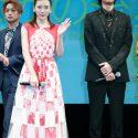 映画『ひるなかの流星』で三角関係を演じた永野芽郁、三浦翔平、白濱亜嵐