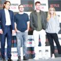 左からジェレミー・クライナー、デヴィッド・ミショッド監督、ブラッド・ピット、デデ・ガードナー