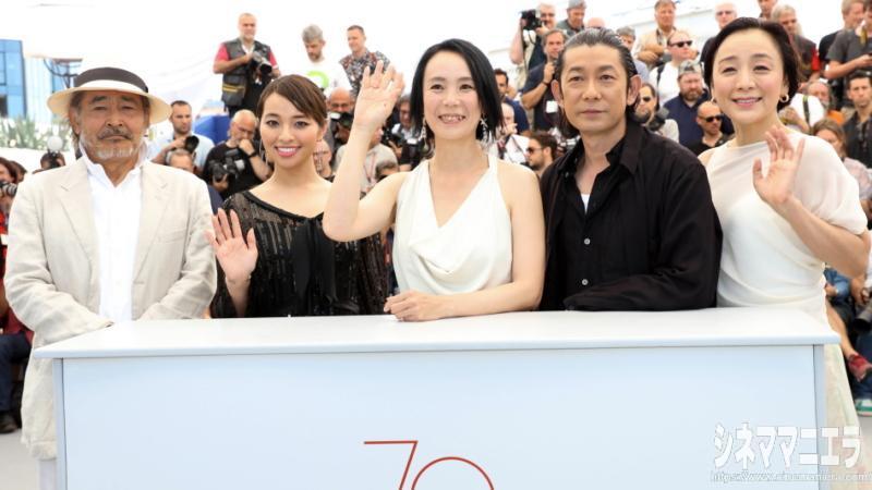 第70回カンヌ国際映画祭コンペティション部門出品の映画『光』フォトコール