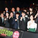 映画『ラストコップ THE MOVIE』初日舞台挨拶の登壇者は洋服に緑色を取り入れて登壇!