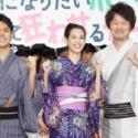 左から妻夫木聡さん、水原希子さん、新井浩文さん