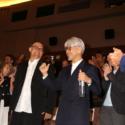 スティーブン・ノムラ・シブル監督と坂本龍一、公式上映にて