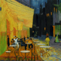 フィンセント・ヴァン・ゴッホ「夜のカフェテラス」、映画『ゴッホ 最期の手紙』より