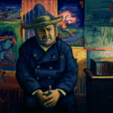 仏パリの画材商タンギー爺さん(ジョン・セッションズ)、映画『ゴッホ 最期の手紙』より
