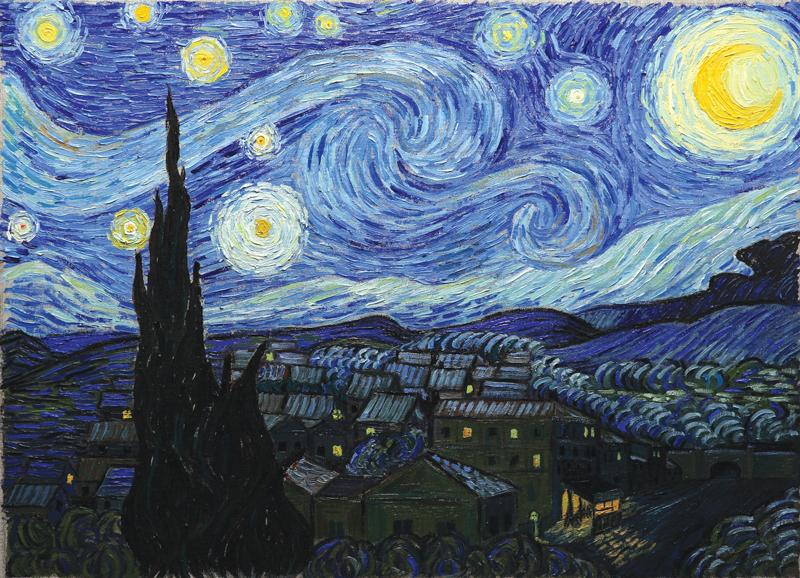 フィンセント・ヴァン・ゴッホ「星月夜」(1889年)、映画『ゴッホ 最期の手紙』より