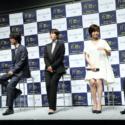 会見に参加した永田監督、桐谷健太、中谷美紀、国仲涼子、大谷亮平