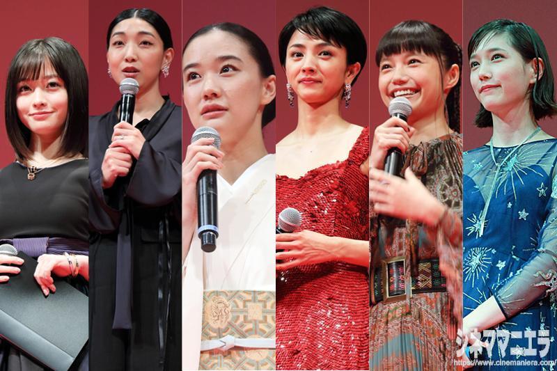 左から橋本、安藤、蒼井、満島、宮﨑、本田