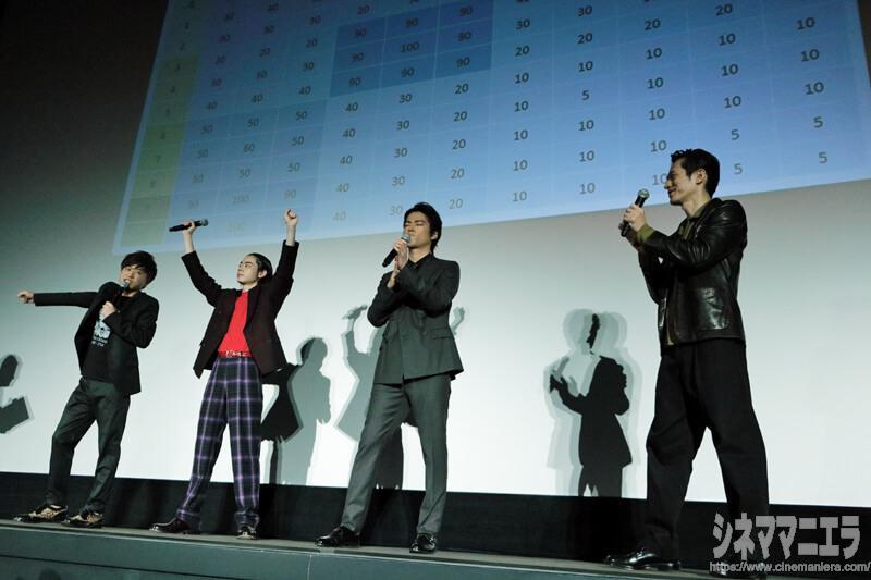 勝利を喜ぶスパークスの菅田と川谷