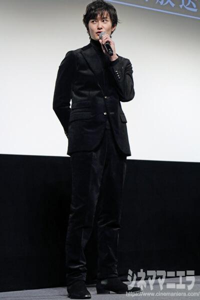岡田将生、WOWOW「連続ドラマW 名刺ゲーム」第一話完成披露試写会にて