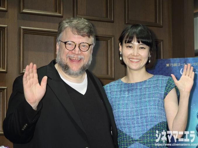 ギレルモ・デル・トロ監督、菊地凛子さん、映画『シェイプ・オブ・ウォーター』来日会見にて
