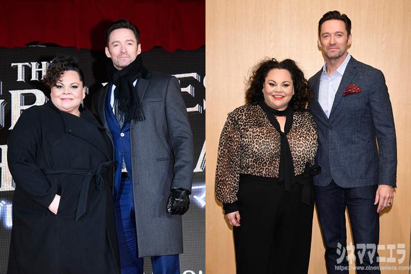 俳優ヒュー・ジャックマンとキアラ・セトルが映画『グレイテスト・ショーマン』のプロモーションのために来日